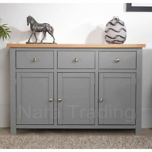 image is loading richmond large sideboard grey painted furniture with solid