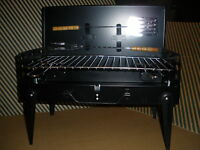 Hibachi Steel Portable Collapsible briefcase Style Grill -nib