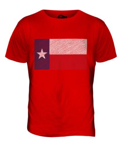 BUNDESSTAAT TEXAS KRITZELTE FLAGGE HERREN T-SHIRT TEE SHIRT XS S M L XL 2XL 3XL