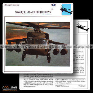 060-01-SIKORSKY-UH-60-A-CREDIBLE-HAWK-Helicoptere-Fiche-Avion-Airplane-Card