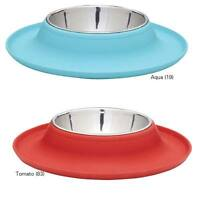 Crave Silicone Base Dog Bowls 12 Oz Tidy Solution To Doggy Dining Aqua Or Red