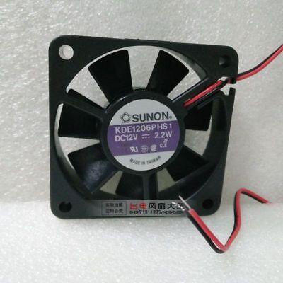 For SUNON Maglev KDE1206PTV1 6025 60x 25mm Cooler Cooling Fan 12V 1.8W 2Pin B43