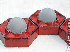 ORIGINALE 70er elementi Muro Lampada 3 pezzo Vintage Lampada Soffitto 70s Honsel CULT