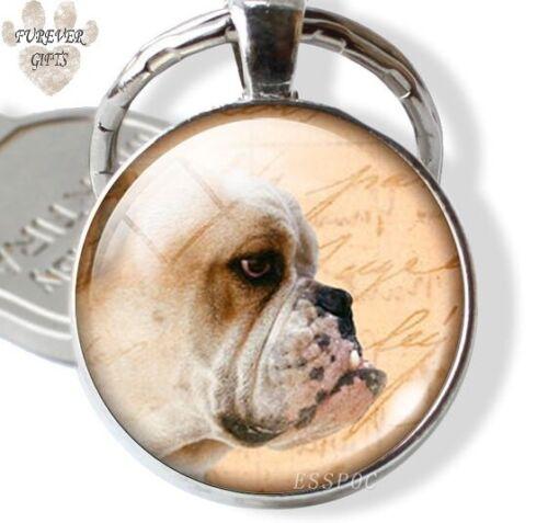 British Bull Dog Keyring Bag Charm Gift wrapped Free P/&P