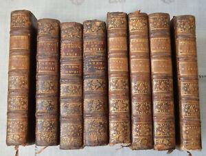 1756-lot-8-ouvrages-de-Massillon-Sermons-Careme-Avent-Oraisons-etc-reliure-cuir
