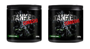 Tanked-Smash-Pre-Workout-50-Servs-Nitric-Oxide-Muscle-Pump-x-2-Tubs-Lemon-amp-Lime