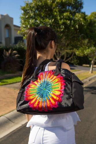 shoulder bag overnight bag Details about  /Genuine Embroidered Vintage Tribal BOHO sport bag