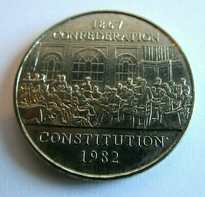 1982 Canada Confederation Constitution Dollar-Circulated