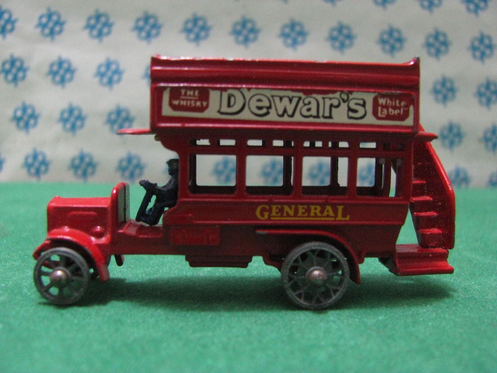 Vintage Matchbox -  8  type London Bus 1912 1920 - Lesney n ° Y2
