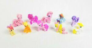 Hasbro-My-Little-Pony-Mini-Figures-MLP-Lot-of-10-Ponies-2-inch