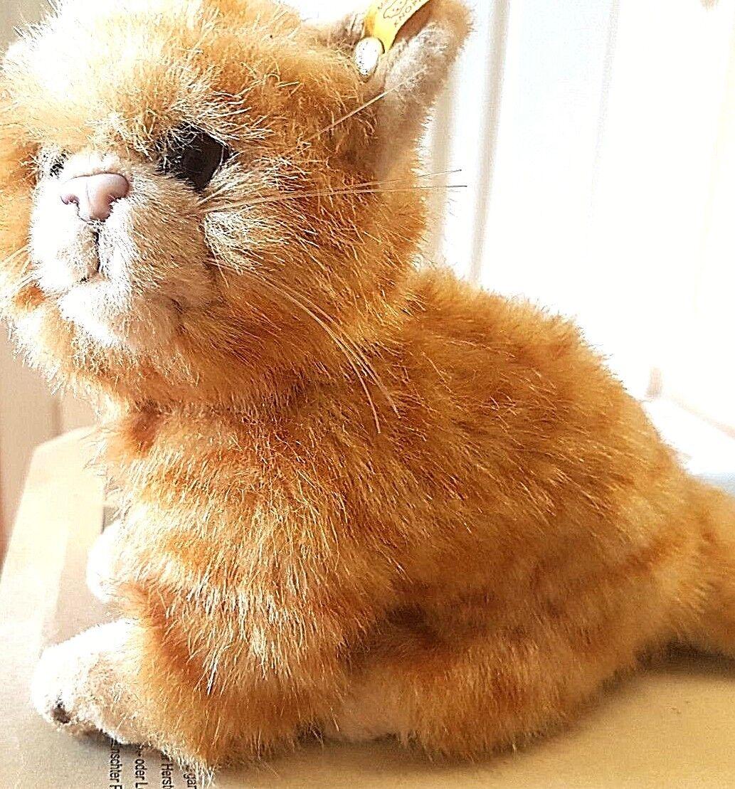Steiff 074929 - Katze Whiskas 16 cm rot leicht bräunlich gestromt K F wie neu