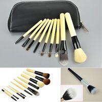 Pro Makeup Cosmetic Fiber Foundation Stipple Powder Brush Make up Brushes New UK