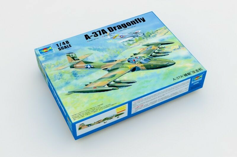 02888 Trumpeter Battleplane American A-37A Dragonfly Aircraft 1 48 Scale Model