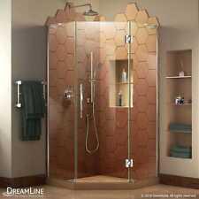 """DreamLine Prism Plus 38"""" x 38"""" x 72"""" Frameless Shower Enclosure in Brushed"""