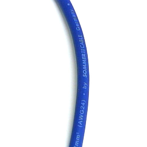 3m Microphone Lead XLR to XLR Sommer Stage 22 Highflex Cable Blue