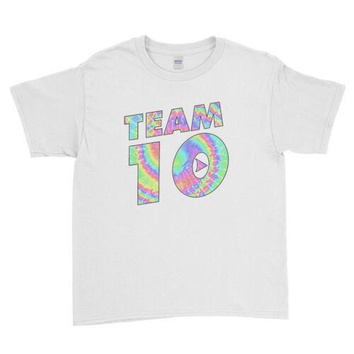 Jake Paul Logan Team 10 Funny Maverick Boys Girls Kids T Shirt Unisex