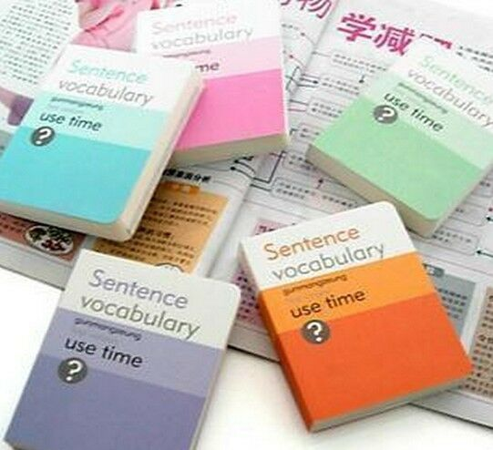 Portable Notebook Journal Vocabulary Book GMZ Use Time