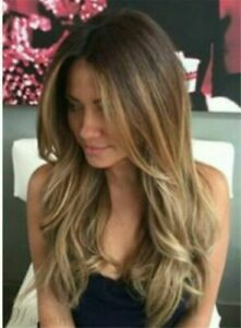 Sexy Long Wavy Dark Blond Layered Hair Lace Front Wig