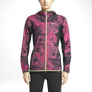 Nike-sz-S-Printed-Trail-Kiger-Full-Zip-Women-039-s-Running-Jacket-NEW-651609-602