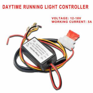 DRL-12V-coche-circulacion-diurna-LED-Luz-Lampara-Bombilla-arnes-de-rele-Controlador-de-encendido