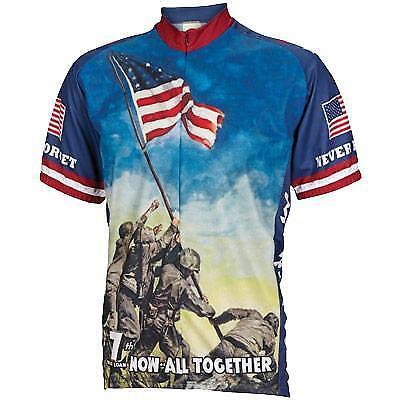 World Jerseys Iwo Jima Cycling Jersey Medium Bike