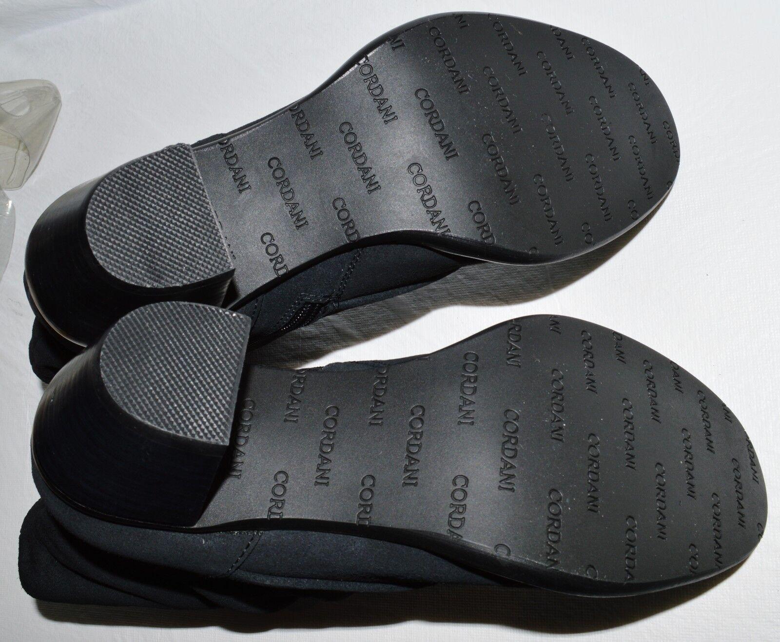 CORDANI CALZATURE UMBER NIB  310 310 310 SZ 6.5 M 37 BLACK SUEDE ANKLE BOOTS BOOTIES c95b12