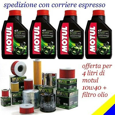 4 LT MOTUL 5100 10W40 4T  + FILTRO OLIO HONDA