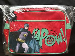 3ddaabc5432e DC COMICS BATMAN TV SERIES RED KAPOW RETRO SHOULDER MESSENGER BAG ...