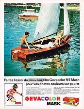 PUBLICITE ADVERTISING 114  1963  GEVACOLOR MASK  le nouveau film couleur