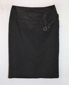 NOW-Brand-Black-Pinstripe-with-Belt-Pencil-Skirt-Size-10-BNWT-SA76