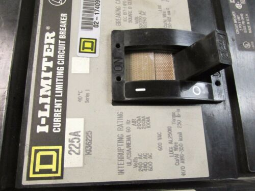UC-108 * Square D 225A Circuit Breaker 3P I-Line Cat# KI36225 .