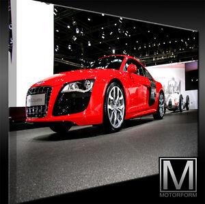 Poster & Bilder Audi R8 Auf Leinwand Bild Canvas Art Kunstdruck Echtes Leinwandbild Artwork