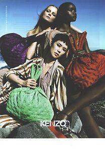 PUBLICITE ADVERTISING   2011  KENZO sacs maroquinerie pret à porter