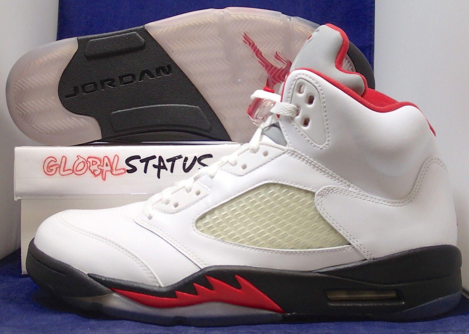 meet b7ffd 07737 ... canada 2018 nike air jordan retro 5 v rojo fuego lengua 100 de plata  zapatos 136027