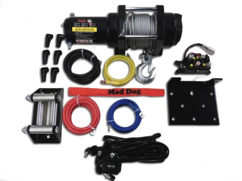 3500lb Mad Dog Winch Mount Combo Can-Am 13-19 Outlander Max 500//570//650//800//850