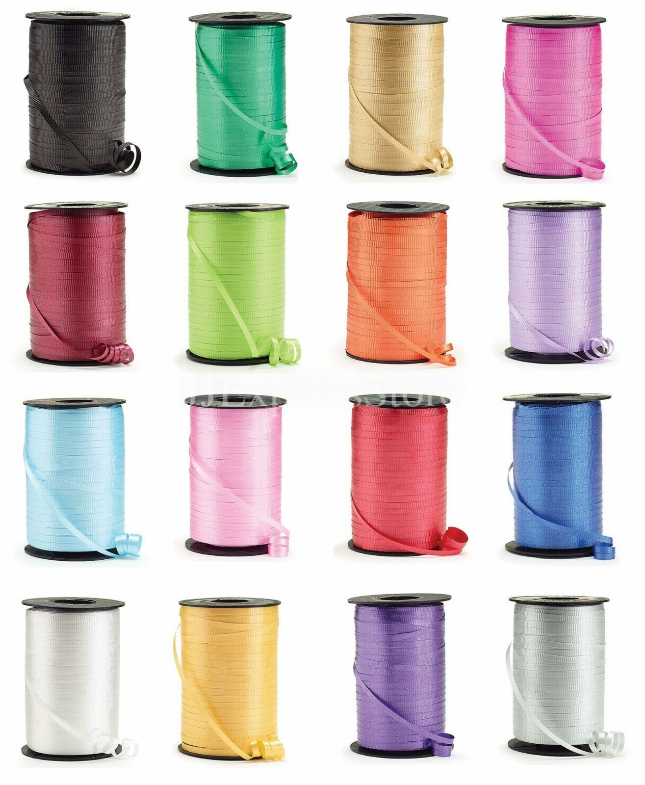 """Curling Ribbon 3//16/"""" x 500 Yards Bulk Spool Crimped Party Balloons 1,500 ft"""