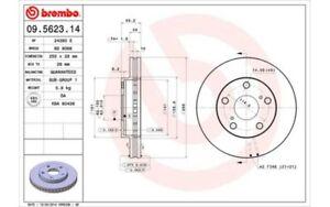 BREMBO-Juego-de-2-discos-freno-255mm-ventilado-TOYOTA-CAMRY-PICNIC-09-5623-14