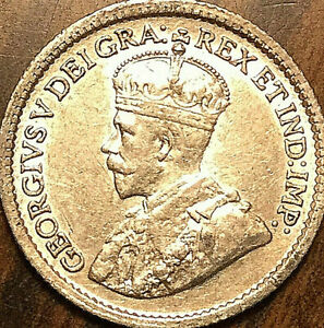 1916-CANADA-SILVER-5-CENTS-COIN-Fantastic-example