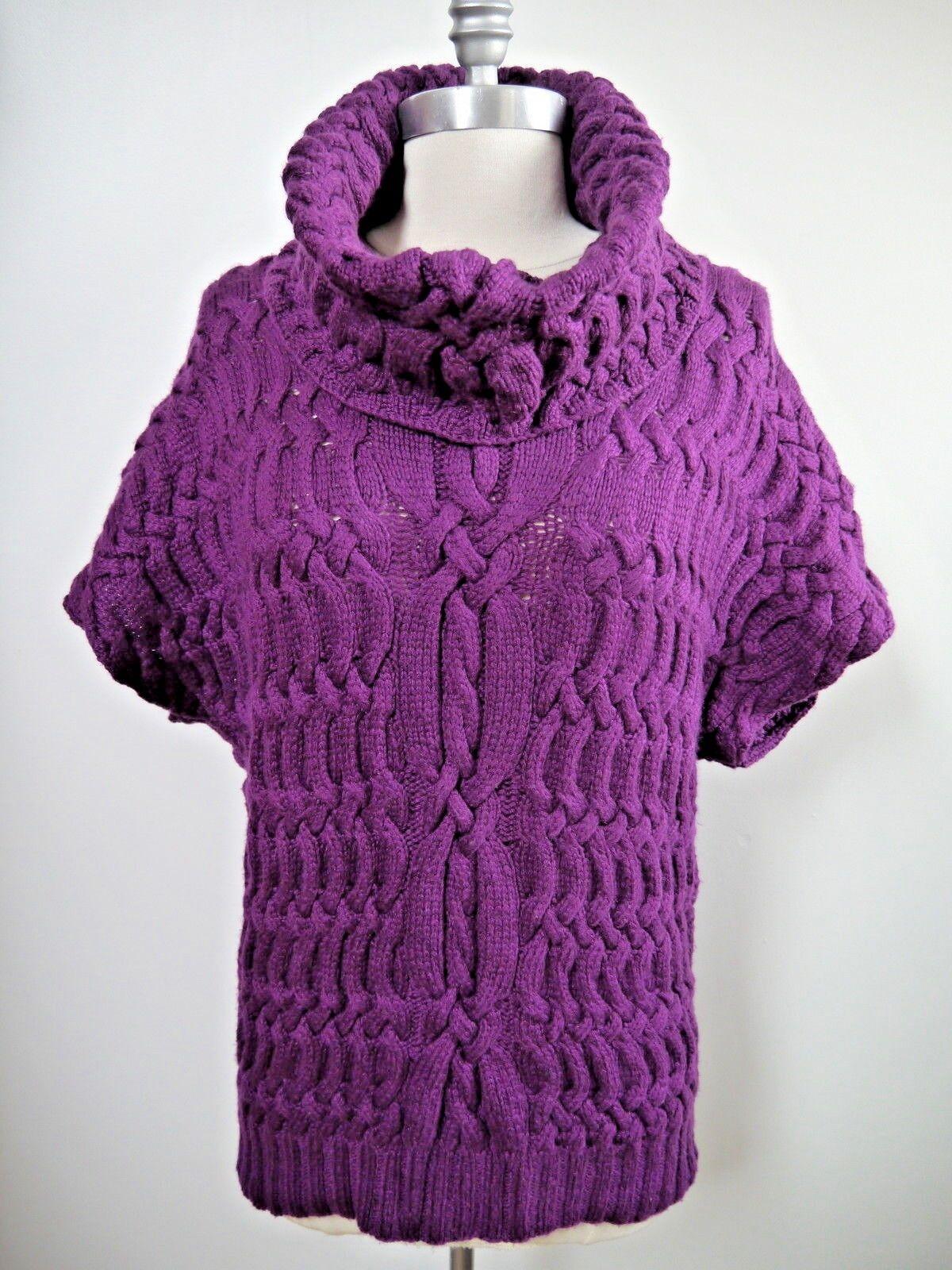 OSCAR DE LA RENTA k chunky 8 ply 100% cashmere sweater size small WORN ONCE