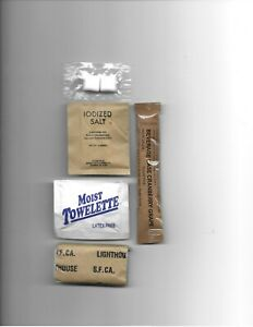 40 New Military Surplus MRE's individually packaged ACCESSARY PACKETS