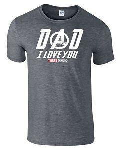 6aaf768e Dad I Love You 3000 Fathers Day T-Shirt Tony Stark Avengers Endgame ...