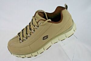 NEW SKECHERS LADIES 9 EW Sport Flex Fit High Demand Taupe