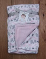 Girls Blankets Beyond White Gray Pink Elephant Soft Baby Blanket