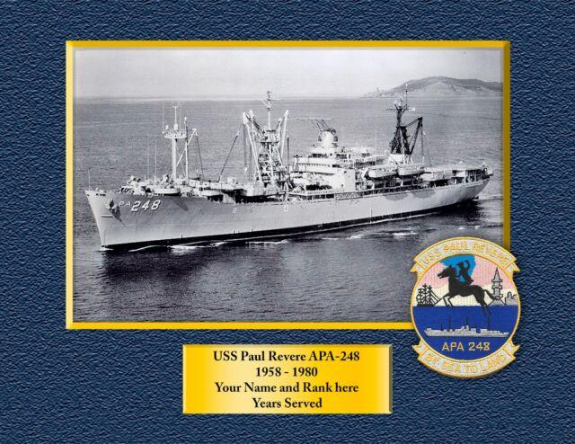 USS George Clymer APA-27 Custom Personalized Print of US Navy Gift Idea