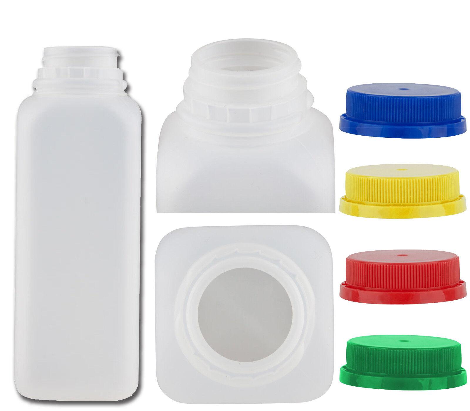 a5d3f9fa4460 16 oz HDPE Plastic Juice Bottles - 160 Per Case With Tamper Proof Caps