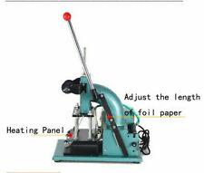 115x18cm 110v Hot Foil Stamping Machine For Leatheramppvc Card Manual Press New