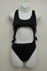 New-LA-Hearts-Swim-Sz-M-Black-High-Waisted-Bikini-Sexy-Swimwear-One-Piece