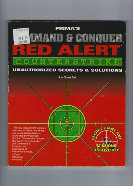 COMMAND & CONQUER RED ALERT PRIMA'S OFFICIAL STRATEGY GUIDE PAPERBACK BOOK