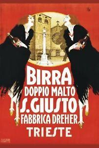 TARGA-VINTAGE-034-BIRRA-SAN-GIUSTO-034-Pubblicita-Advertising-Poster-Plate-Art-Retro