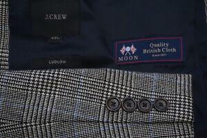 J.Crew Ludlow Gray Blue Glenplaid POW Check Moon British Cloth 2 PC Suit 42L